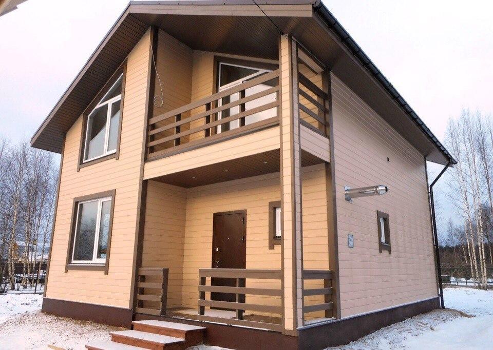 Двухэтажный каркасный дом 100м2